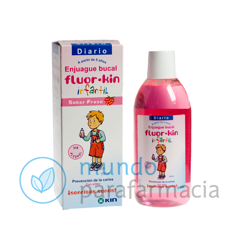 Fluor kin infantil enjuague bucal fresa 500 ml-0