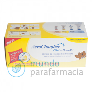 CAMARA DE INHALACION AEROCHAMBER PLUS FLOW-VU INFANTIL 1 U-0