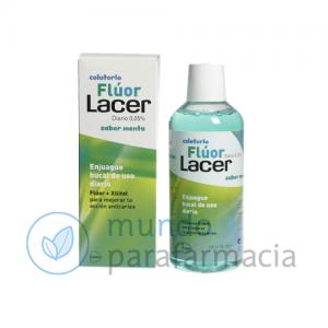 LACER COLUTORIO FLUOR DIARIO 0,05 % MENTA 500 ML-0