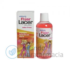 LACER COLUTORIO FLUOR DIARIO 0,05 % FRESA 500 ML-0