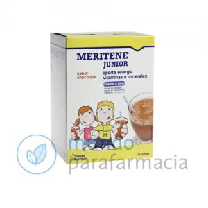 Complemento de vitaminas para niños o adolescentes Meritene Junior sabor chocolate-0