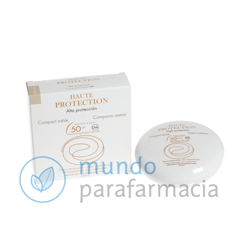 SPF 50 Avene solar compacto oil free dorado 10 gr-0