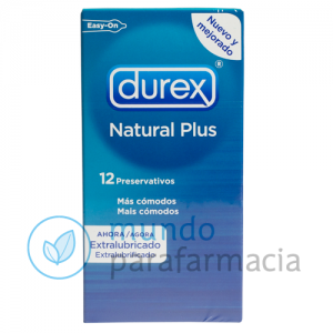 DUREX NATURAL PLUS EASY ON PRESERVATIVOS 12 U-0