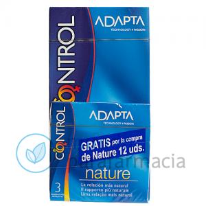 Control adapta nature preservativos 12 uds-0