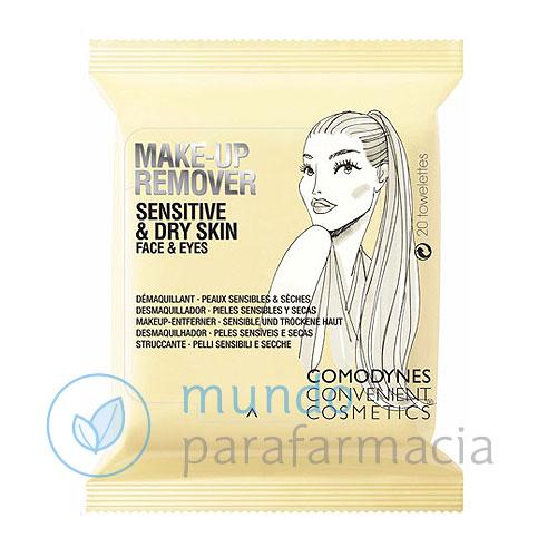 Comodynes Toallitas desmaquillantes pieles secas o sensibles -10707