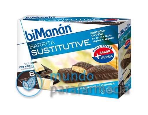 BIMANAN SUSTITUYE 8 BARRITAS CHOCOLATE NEGRO Y BLANCO-0