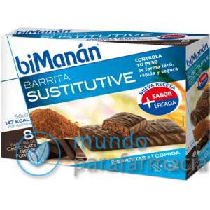 BIMANAN SUSTITUYE 8 BARRITAS CHOCOLATE NEGRO FONDANT-0
