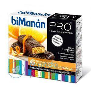 Bimanan pro 6 barritas chocolate naranja-0