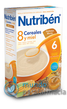 NUTRIBEN 8 CEREALES Y MIEL GALLETAS MARIA 600 G -0